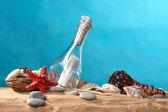Mer morte le message dans une bouteille — Photo