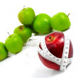 Apples measured  the meter, sports apples - Stockfoto