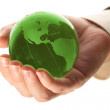 World in hand and global internet and business — Stock Photo #9962905