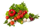 Fresh Vegetables, Fruits and other foodstuffs — Stock Photo
