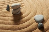 Garden of stones, zen-like, tranquil, spa images — 图库照片