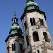Stock Photo: Two old tower from church