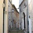 Backstreet in old town of Herceg Novi, Montenegro - Stock Photo