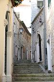 Backstreet in old town of Herceg Novi, Montenegro — Stock Photo