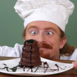 Funny young chef — Stock Photo