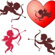 Stock Vector: Cupid collection