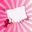Valentine's day vector background with cupid — Stock Vector