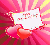 Valentine's day vector card — Stock Vector