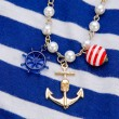 Necklace with anchor — Stockfoto