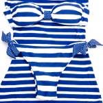 Blue-white striped bikini — Stock Photo #10543406