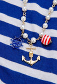 Necklace with anchor — Stock Photo