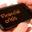 Financial crisis — Foto Stock