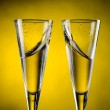 Two glass of champagne — Stock Photo