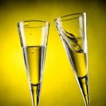zwei  glas  von  champagner — Stockfoto