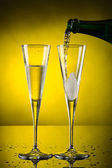 Two glass champagne — Stock Photo