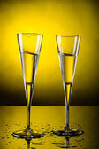 Celebration toast with champagne — Stok fotoğraf