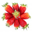 Foto de Stock  : Group of strawberries