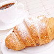 Croissant with coffee — Stock Photo