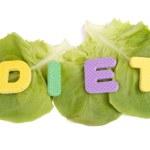 Постер, плакат: Diet on the lettuce leaves