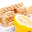 Royalty-Free Stock Photo: Lemon wafer