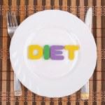 dieet op de plaat — Stockfoto