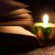 Book and candle — Stockfoto