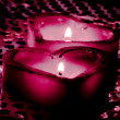 Heart-shape candles — Stock Photo