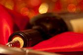 Corkscrew and winebottle — Stock Photo