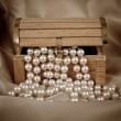 Pearls from chest — Stock Photo #9673104
