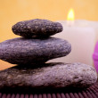 Stones, soap and candles — Stock Photo #9688257