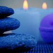 Stones, soap and candles — Stock Photo