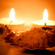 Sea salt and candles — Stockfoto