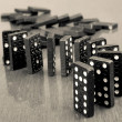Royalty-Free Stock Photo: Falling dominoes