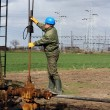 Oil worker check oil pump — Stock Photo #10013220