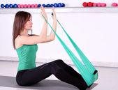Meisje fitness oefening — Stockfoto