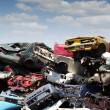 Stock Photo: Junk yard with old cars