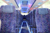 Inside of new bus — Stock Photo