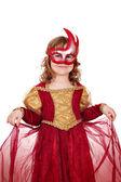 戴着面具的小女孩 — 图库照片