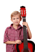 Boy posing with guitar — Stock Photo