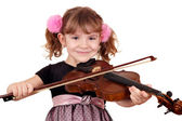 Beautiful girl with violin portrait — Stockfoto