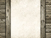 Wood and sheet - grunge background — Stock Photo