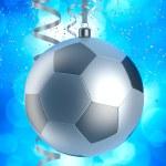 Chrismas bauble like football — Stock Photo