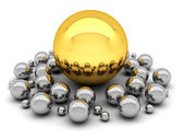 Leadership concept illustration - balls — Stock Photo