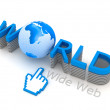 Stock Photo: World Wide Web - internet symbols