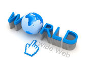 World Wide Web - Internet-Symbole — Stockfoto