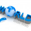 World Wide Web - computer mouse and globe — Stock Photo #8624885