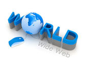 World Wide Web - computer mouse and globe — Stock Photo