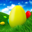 Royalty-Free Stock Photo: Easter - eggs on grass