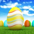 Royalty-Free Stock Photo: Easter eggs on spring background