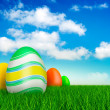 Easter eggs on beautiful nature background - Foto de Stock